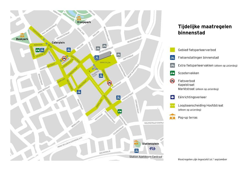 Alle fietsentallingen en parkeervakken op 1 kaart